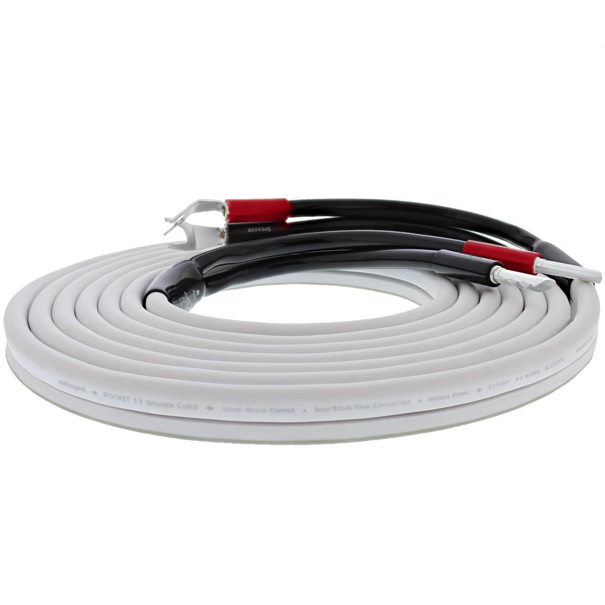 Audioquest Rocket 11 Speaker Cable Black the quantity you enter will be the number of cables you receive cut to this length. 10 metre length cut from the drum