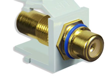 FSUK Konexia K-RCA-10 Adapter Gold (Blue)