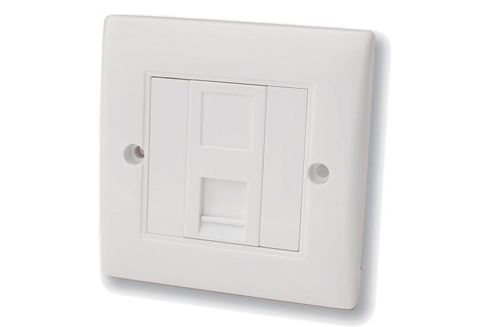 FSUK CAT5-FLUSH-PLATE-SINGLE Cat5 Flush Mounted Wall Plate Single
