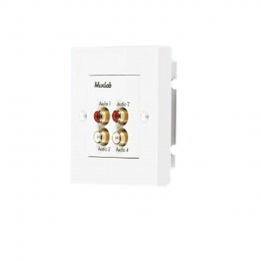 MuxLab 500033-WP-UK Quad Audio Wall Balun - UK