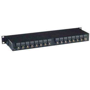 MuxLab 500127 LongReach II Active CCTV Receiver Hub - 16 Port