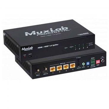 MuxLab 500424 HDMI/HDBT 1x4 Splitter