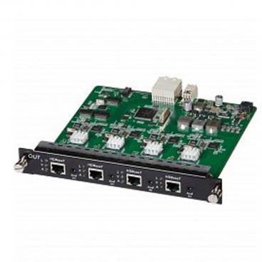 MuxLab 500482-O HDBaseT Lan 4 Channel Output Card PoE UHD 4K