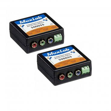 MuxLab 500054-2PK Component Video/IR Pass-Thru Balun - 2 Pack