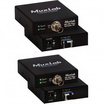 MuxLab 500710 3G-SDI SM Fiver Extender Kit
