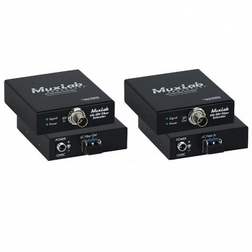 MuxLab 500712 6G-SDI Fiber Extender Kit