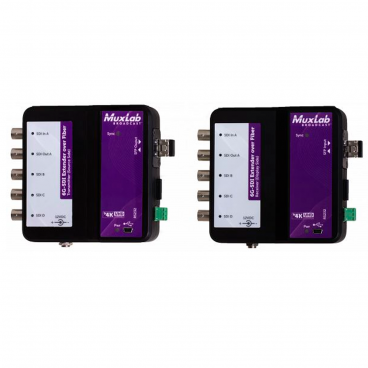 MuxLab 500734 6G-SDI Extender Over Fiber Optic With Return Channel