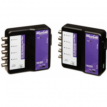 MuxLab 500732 6G-SDI Extender over Fiber Optic