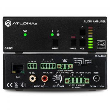 Atlona AT-GAIN-60 Stereo / Mono Power Amplifier – 60 Watts