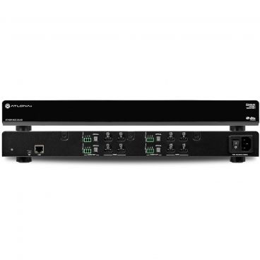 Atlona AT-HDR-M2C-QUAD Dolby/DTS 4 HDMI Input to 2CH down-converter w/4K and HDR capabilities