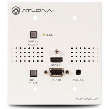 Atlona AT-HDVS-150-TX-WP Two-Input Wallplate Switcher for HDMI and VGA with HDBaseT Output