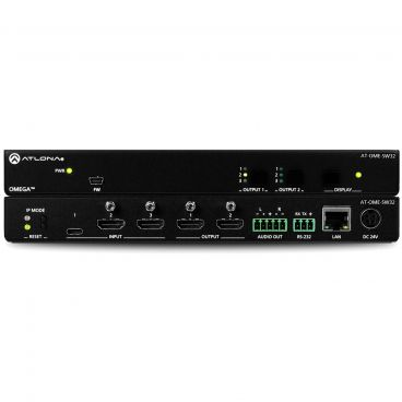 Atlona AT-OME-SW32 3×2 Matrix Switcher for HDMI and USB-C