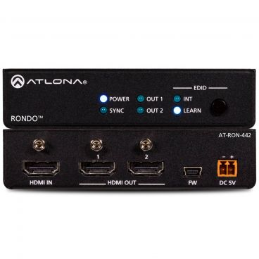 Atlona AT-RON-442 4K HDR Two-Output HDMI Distribution Amplifier