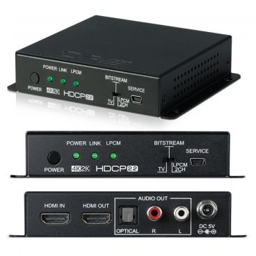 CYP HDMI Audio De-embedder (up to 5.1) with built-in Repeater (4K, HDCP2.2, HDMI2.0)