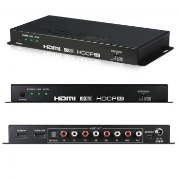 CYP HDMI Audio De-embedder (up to 7.1) with built-in Repeater (4K, HDCP2.2, HDMI2.0)