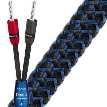 AudioQuest Type 4 Speaker Cable 5m Pair with Suregrip 300 Banana Plugs - Ex-Demo