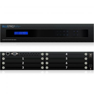 Blustream CUSTOMPRO-HUB Custom Pro Matrix Hub w/ 8x Modular Bays