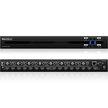 Blustream CMX88AB Contractor 8x8 HDMI2.0 4K HDCP2.2 Matrix with Audio Breakout, EDID Management and Web-GUI
