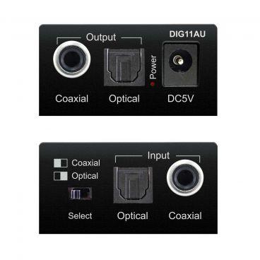 Blustream DIG11AU Digital Audio Converter - Front & Back