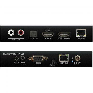 Blustream HEX100ARC-KIT-V2 HDBaseT™ Extender Set - Transmitter - Front & Back