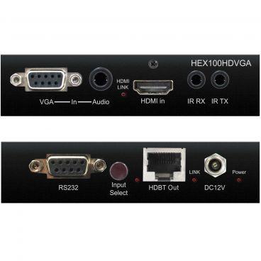 Blustream HEX100HDVGA-KIT HDBaseT Extender Set - Transmitter - Front & Back