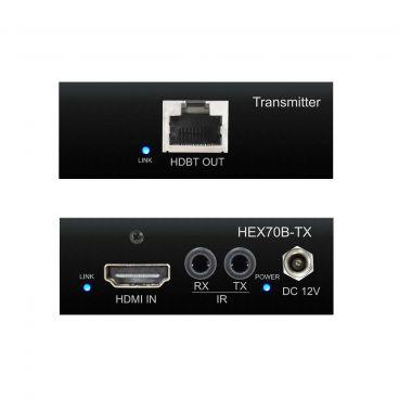Blustream HEX70B-TX HDBaseT Extender Transmitter - Front & Back