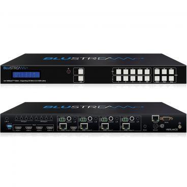Blustream HMXL44CS-KIT 4x4 HDBaseT™ CSC Matrix Kit - 70m (4K60Hz 4:4:4 up to 40m) W/ 4x HEX70CS-RX HDBaseT™ Receivers