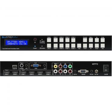 Blustream MFP72 7 Input 2 Output Multi-Format Presentation Switch - Front & Back