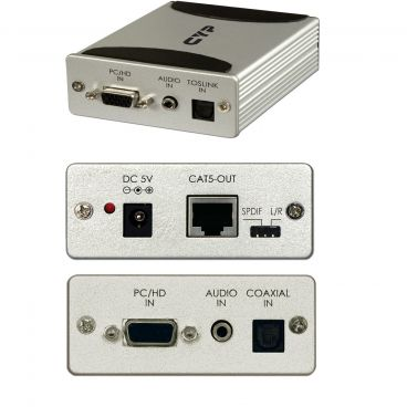 CYP CA-COMP-AT CAT5 PC/HD Transmitter with Audio Selection (HD Distribution)
