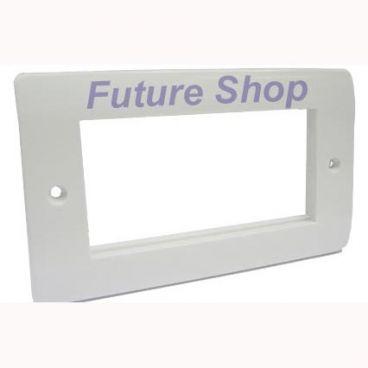 FSUK Click MEDIA-2-GANG-QUAD-PLATE Media 2 Gang Quad Aperture Plate
