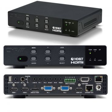 CYP HDMI / VGA / Display Port Presentation Switch & Scaler with HDMI & HDBaseT LITE Outputs