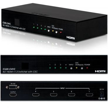 CYP EL-C41C 4-Way HDMI Switcher with CEC Control and RS-232
