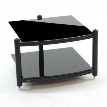Atacama EQUINOX HI-FI BASE- Piano Black Glass Hi-Fi RS 2 shelf base module