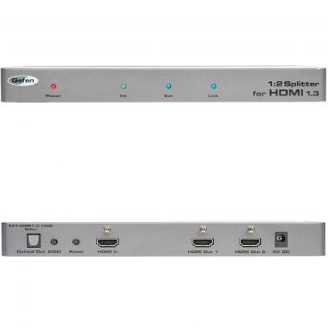 Gefen EXT-HDMI1.3-142D 1:2 Splitter for HDMI 1.3 with Digital Audio