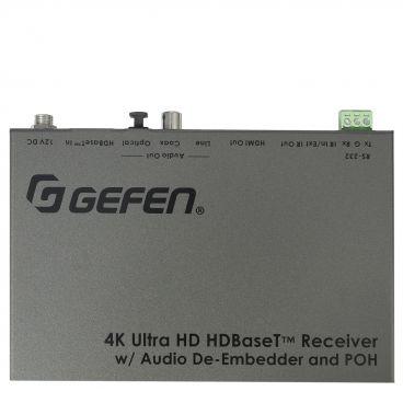 Gefen EXT-UHDA-HBTL-RX 4K Ultra HD HDBaseT Receiver w/ Audio De-Embedder and POH