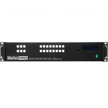GefenPRO GEF-DVIKVM-848DL-PB 8x8 DVI KVM Dual Link Matrix w/ Push Button Control
