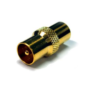 FSUK MALE-MALE-AERIAL-GD Gold Plated Male to Male Aerial Adapter