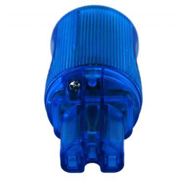 MS HD Power 'The Blue' 10A IEC Plug Rhodium - MS9315RK