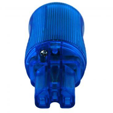 MS HD Power 'The Blue' 10A IEC Plug Silver - MS9315SK