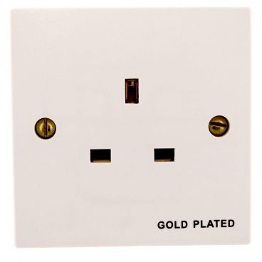 MS HD Power Audio Quality UK Single Gang Wall Socket Gold- MS9297G