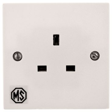MS HD Power Audio Quality UK Single Gang Wall Socket Rhodium - MS9297Rh