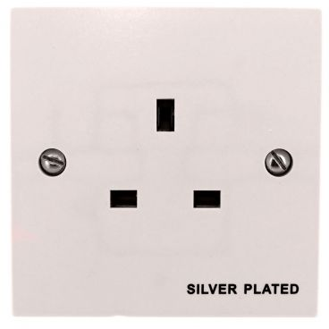 MS HD Power Audio Quality UK Single Gang Wall Socket Silver - MS9297S