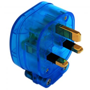 MS HD Power 'The Blue' 13A UK Plug Gold - MS328GK