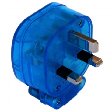 MS HD Power 'The Blue' 13A UK Plug Rhodium - MS328RK