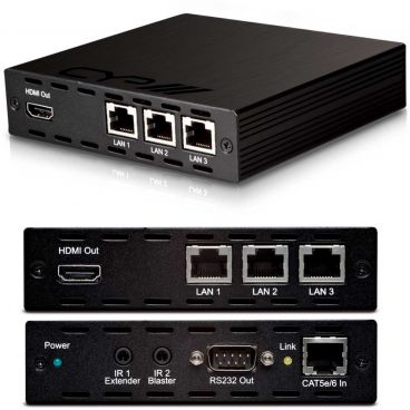 CYP v1.4 HDMI over Single CAT HDBaseT (up to 100m) Receiver with 5Play, 3 x LAN & PoE
