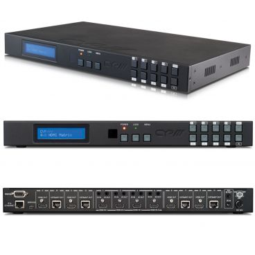 CYP 4x8 HDMI / HDBaseT Matrix (4x HDBaseT & 4x HDMI Outputs) with 5-Play & PoE (up to 100m)