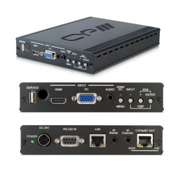 CYP Switchable HDMI & VGA HDBaseT Transmitter with integrated video scaling (up to 100m)