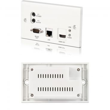 CYP v1.4 HDMI over Single CAT5 HDBaseT - PoE Wall Plate Receiver (full 5-Play & Single LAN)
