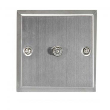 FSUK Satellite Steel Wallplate