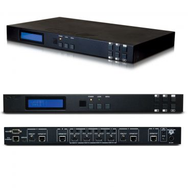 CYP 4x4 HDMI HDBaseT Matrix with 2 simultaneous HDMI Outputs (5-Play including PoE)
